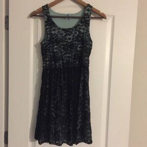 Lacey Teal Dress